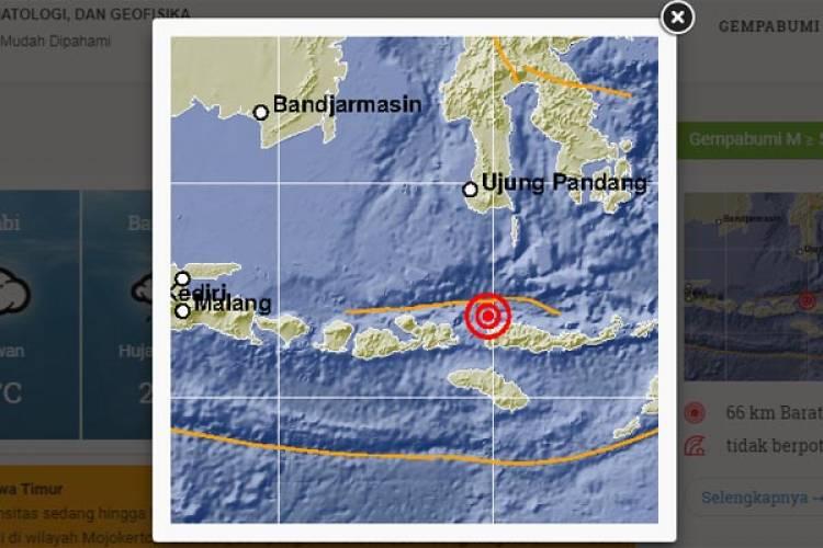 Gempa Bumi 4,7 di NTT Terasa Hingga Bima