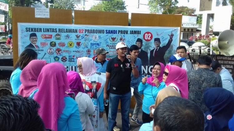 Gelar Aksi Sejuta Tandatangan, Lintas Relawan 02 Prabowo-Sandi Jambi Optimis Pilih Presiden Baru