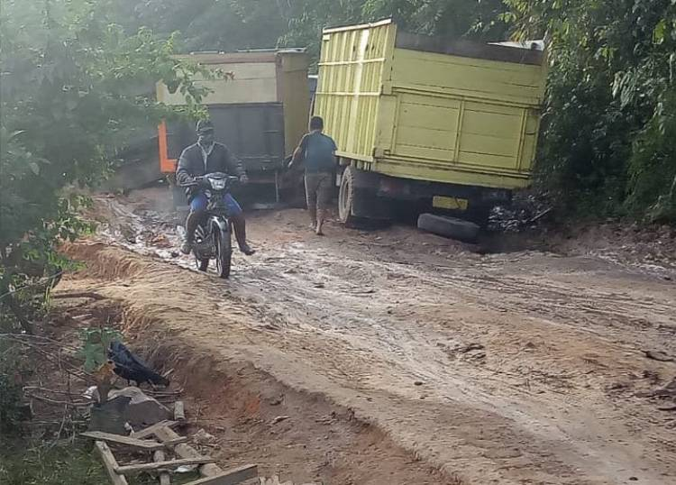 Lapor Bupati, Sawit Warga Busuk Tak Bisa Dijual Karena Jalan di Bajubang Rusak Parah