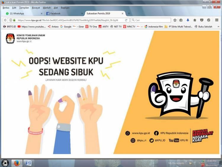 Ada Apa? Website Penghitungan KPU RI Tak Bisa Diakses