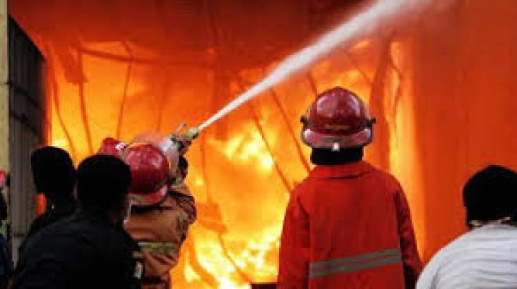 Polres Lampung Selatan Ludes Terbakar