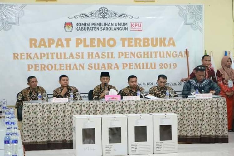 Pleno KPU Sarolangun Masih Bersisa Lima Kecamatan