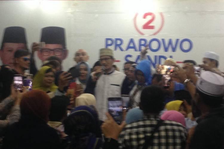 Sandiaga Uno: Terima Kasih Relawan Kawal Proses Pemilu