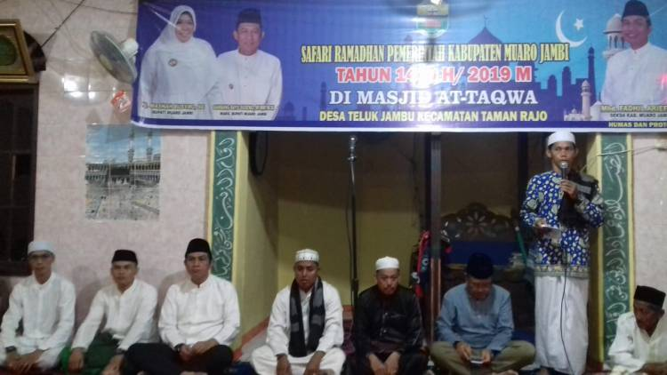 Safari Ramadhan ke Desa Teluk Jambu, Ini Kata Sekda Muarojambi