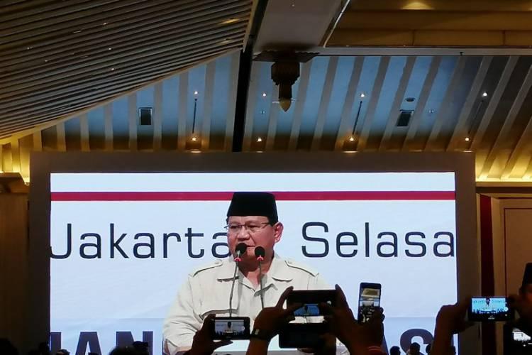 Prabowo: Kita Melihat Pejuang Kita Mengalami Pemerkosaan Demokrasi di Indonesia