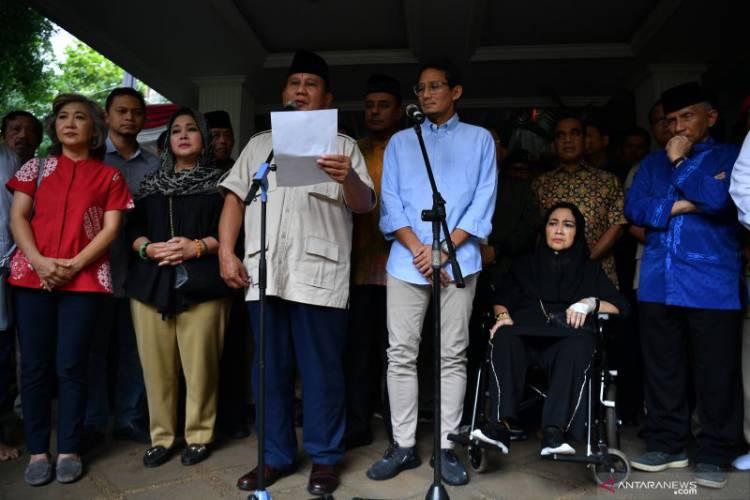 Prabowo-Sandi Gelar Jumpa Pers Jelaskan Gugatan Pilpres