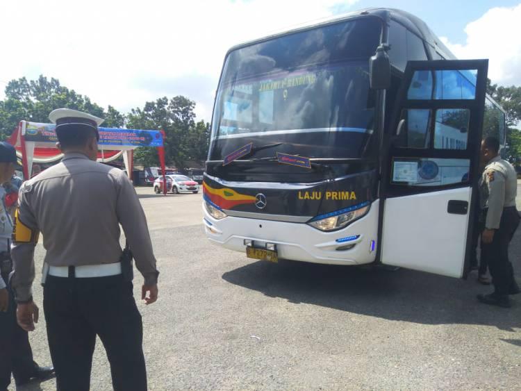 Satlantas Polresta Lakukan Ramp Check di Terminal Alambarajo