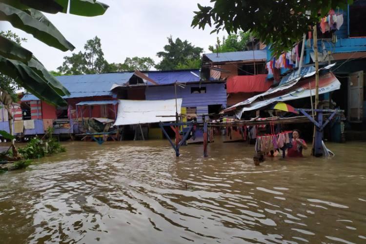 Banjir Landa Sejumlah Rumah di Kota Medan
