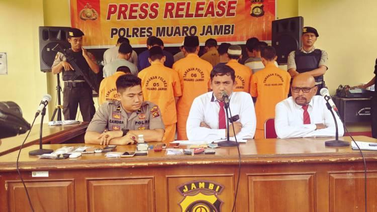 Enam Warga Diduga Pengguna Narkoba Diamankan Polisi Muarojambi