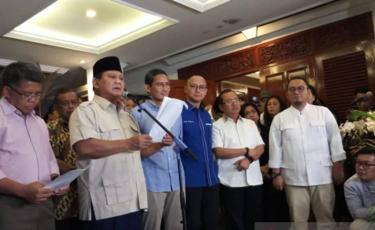 Prabowo: Kami Hormati Hasil Mahkamah Konstitusi