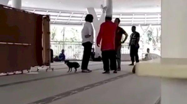 Polres Tetapkan SM Wanita Bawa Anjing ke Dalam Masjid Tersangka Penistaan Agama