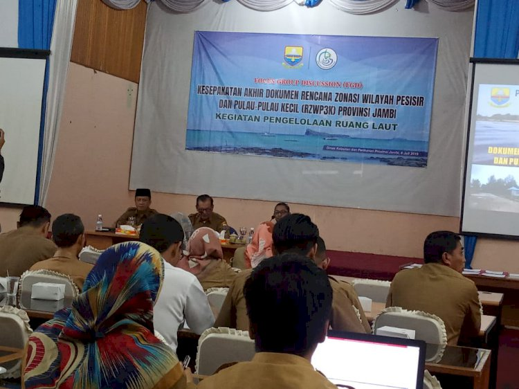Dari Provinsi se-Indonesia, Jambi Urutan ke-22 Selesaikan RZWP3K