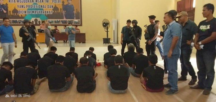 BREAKING NEWS!! Buat Rusuh, 18 Anggota SMB Diringkus Polisi