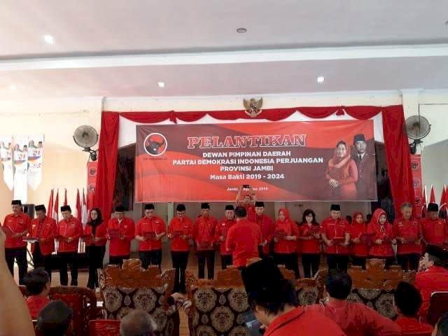 DPD PDIP Jambi Dilantik, Edi Purwanto: Kita Targetkan Empat Kemenangan
