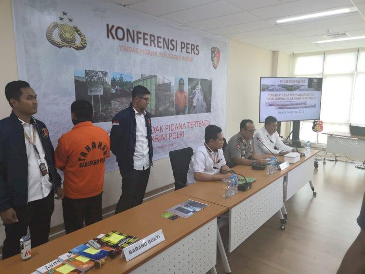 Bareskrim Polri Ringkus Cukong Illegal Loging di Jambi dan Sumsel