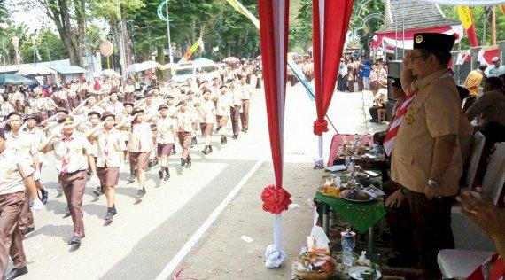 Wawako Jambi Hadiri Lomba Gerak Jalan Indah Diikuti 6.000 Anggota Pramuka