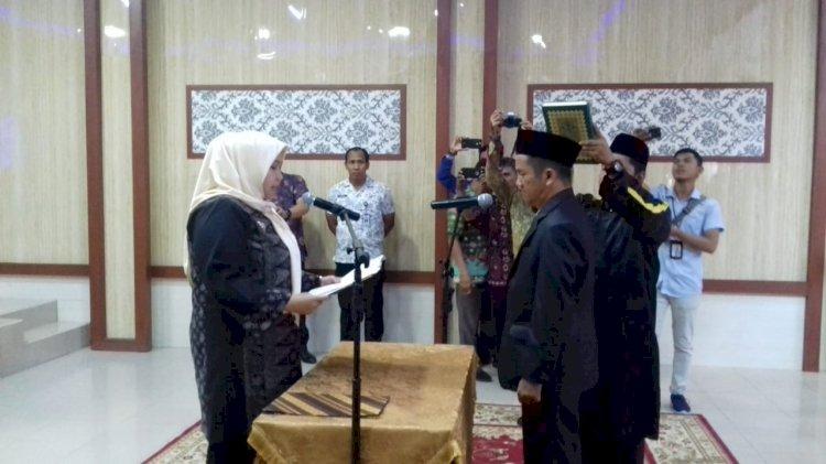 Bupati Masnah Lantik Direktur PDAM Tirta Muarojambi Periode 2019-2023