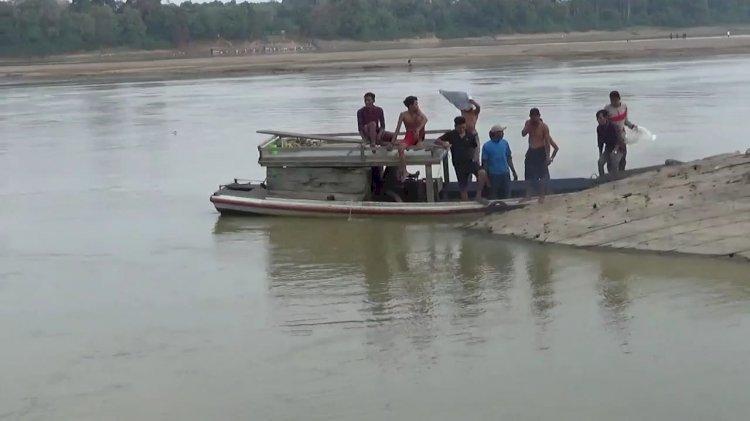 BREAKING NEWS!! Kelelahan Berenang Warga Pematang Pulai Tenggelam di Sungai Batanghari