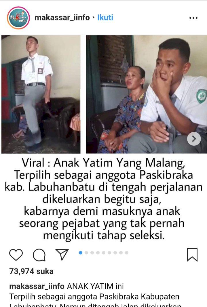 Viral Anggota Paskibra Dicoret, Gara-gara Anak Pejabat?