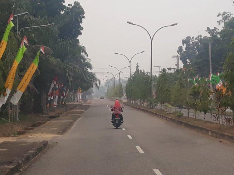 Kabut Asap Serang Muarojambi, ISPU Naik 79 Mg/L