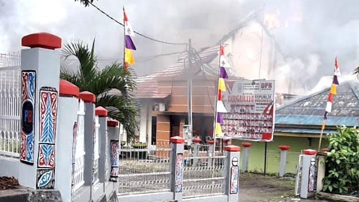 Provokasi Massa, Lapas Sorong Terbakar dan Sebagian Napi Kabur