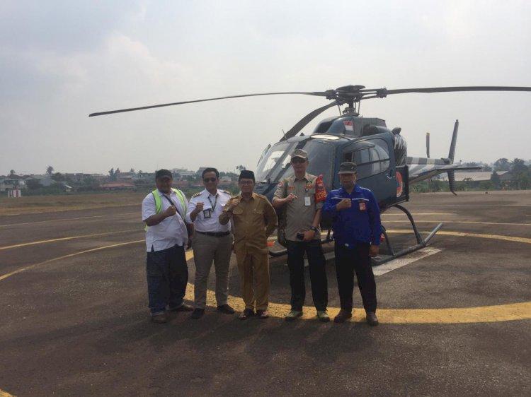 Gubernur Jambi Lakukan Patroli Udara Karhutla