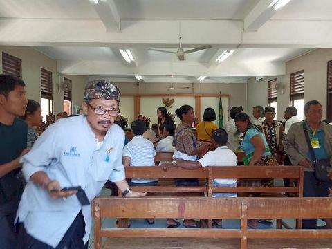 Gempa Guncang Bali, Pengunjung Sidang Berhamburan