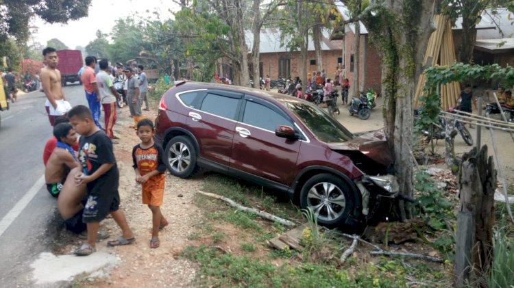 Avanza VS Honda CRV di Sarolangun 7 Orang Luka-luka