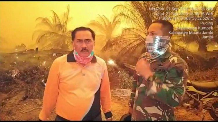 Pemadaman di Lahan Konsesi PT BEP Kesulitan Sumber Air, Zakir : Kanal-kanal Kering