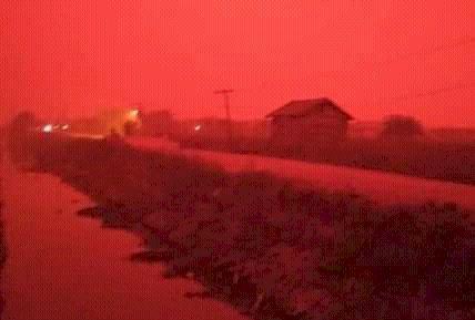 Ini Kata BMKG Soal Langit Merah di Muaro Jambi