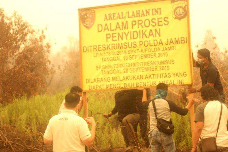 Polisi Segel 972 Hektar Lahan PT MAS Terbakar, Dirkrimsus: Tiada Ampun Bagi Mereka!