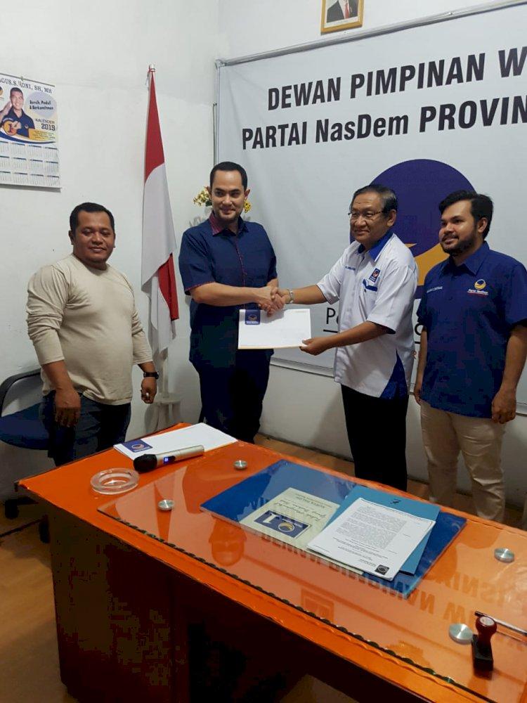 Batal Daftar ke PKS, Jefri Bertolak ke NasDem