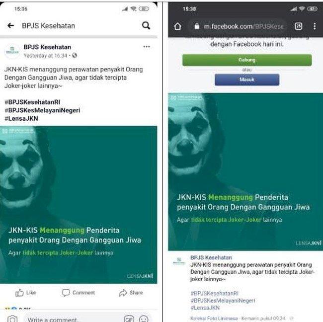 YLBHI Somasi BPJS Kesehatan Terkait Iklan Joker, ODGJ Bukan Pelaku Kriminal