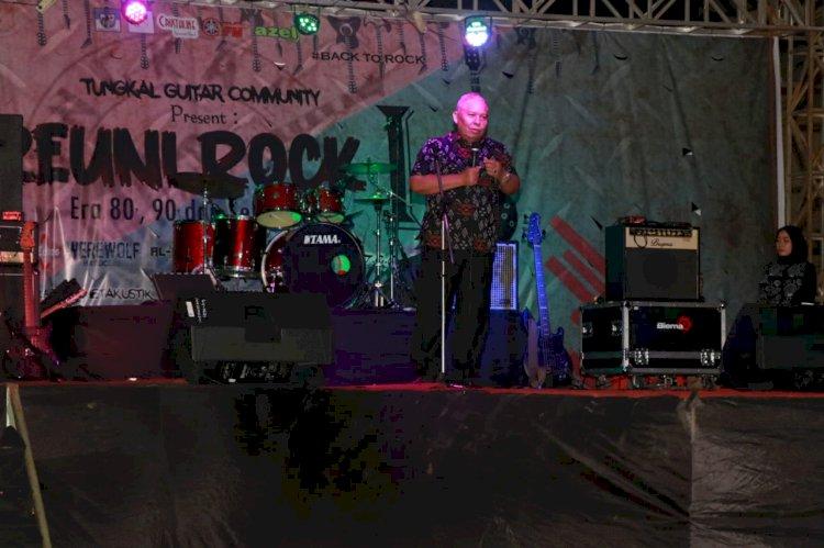 Festival Musik Rock di Tanjab Barat, Bupati Safrial: Saya Serasa Kembali Muda