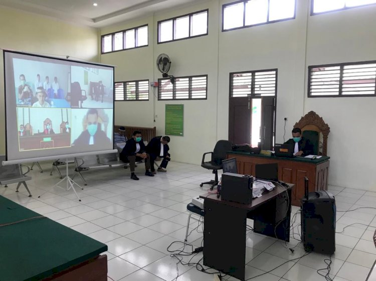 Antisipasi Corona Sidang di Pengadilan Negeri Jambi Pun Dilakukan Secara Online